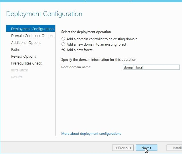 how to make server 2012 a domain controller