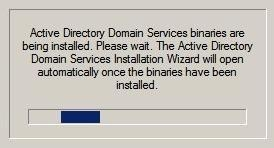 Preview Domain Controller Installation Server 2008R2