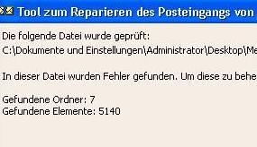 Preview Outlook pst Dateien reparieren