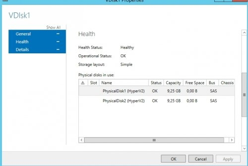 Preview Windows 2012 Storage Pool